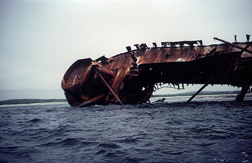 Shipwreck on Gegogan Ledge